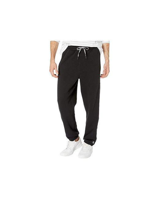 84c4b57bb Vans - Check V Jogger Fleece (black) Casual Pants for Men - Lyst ...