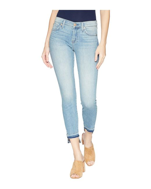 7 For All Mankind - Blue The Ankle Skinny W/ Released Step Hem In Desert Heights - Lyst