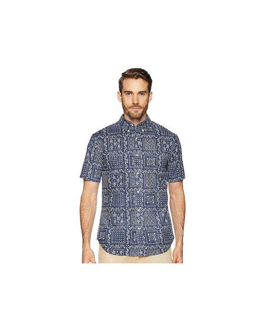 79a87102d Reyn Spooner - Blue Original Lahaina Tailored Fit Aloha Shirt (ink) Short  Sleeve Button ...