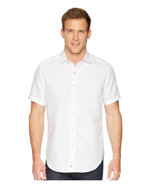 Robert Graham - White Cyprus Short Sleeve Woven Shirt for Men - Lyst