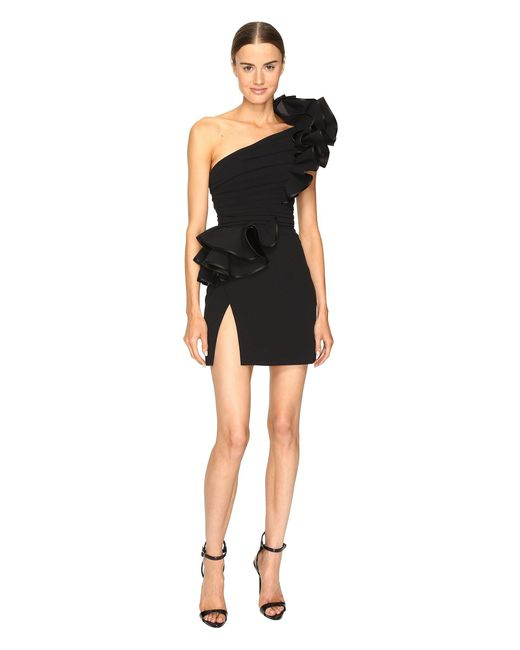 DSquared² - Black Colby One Shoulder High Ruffle Dress - Lyst