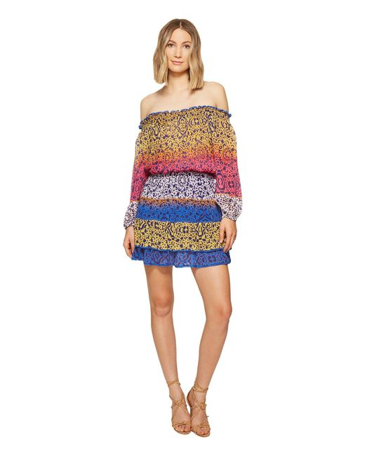 Nicole Miller - Blue La Plage By Cleo Smock Waist Dress - Lyst