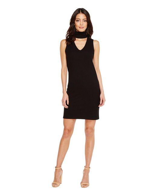 LNA - Black Sleeveless Detached Turtleneck Dress - Lyst