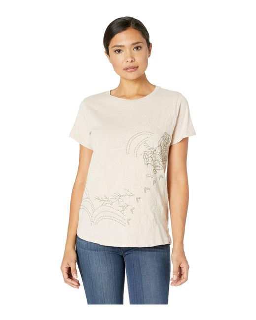 7d5ea64f0e8a13 Lucky Brand - Multicolor Floral Embroidered Tee - Lyst ...