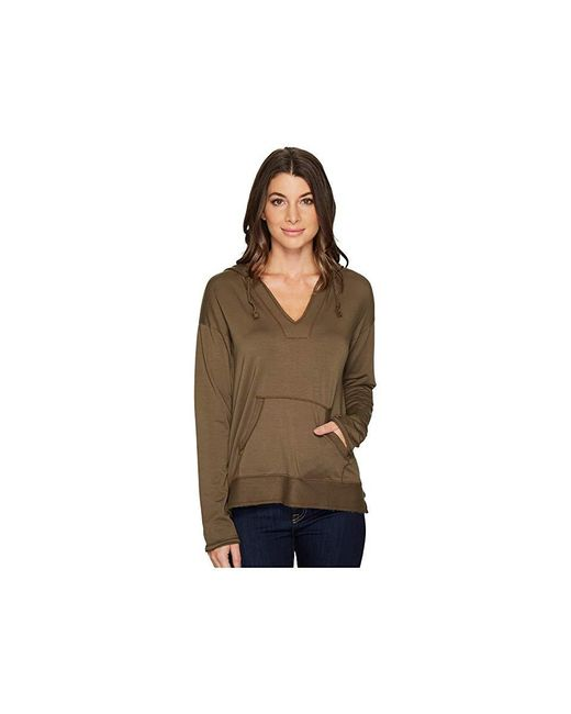 Mod-o-doc - Cotton Modal Spandex French Terry Drop Shoulder Pullover Hoodie (herb Green) Sweatshirt - Lyst