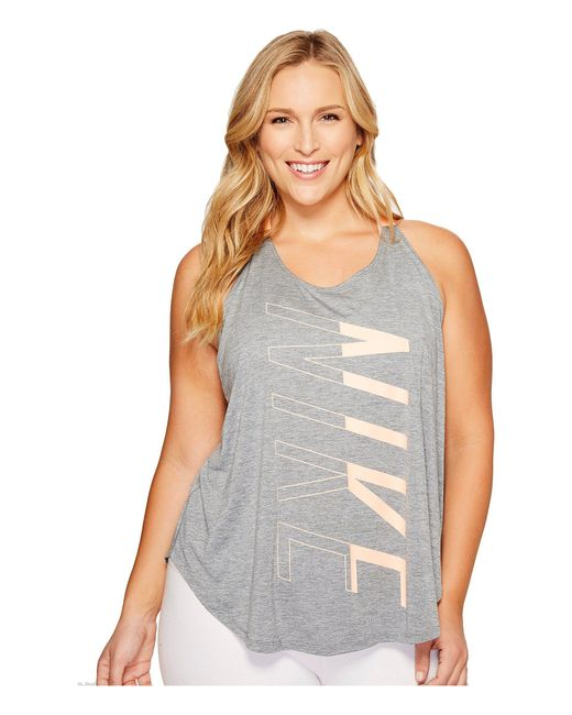 Nike - Gray Breathe Training Tank (size 1x-3x) - Lyst