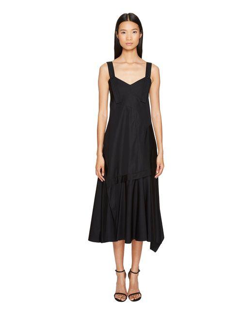Sportmax - Black Plutone Tea Length Sleeveless Dress - Lyst