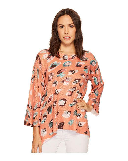 Nally & Millie - Multicolor Rust Printed Trapeze Top - Lyst
