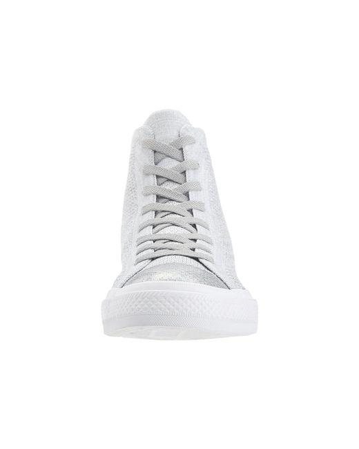 41d9105160e8 ... Converse - Gray Chuck Taylor® All Star® X Nike Flyknit Hi for Men -