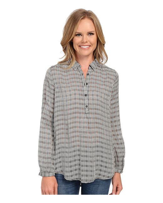 Lucky Brand - Black & White Plaid Top - Lyst