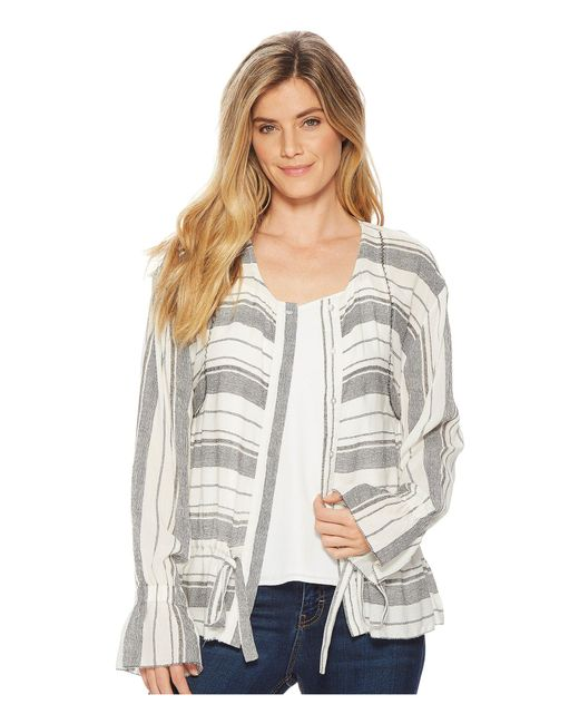 B Collection By Bobeau - Gray Harley Woven Bomber Jacket - Lyst