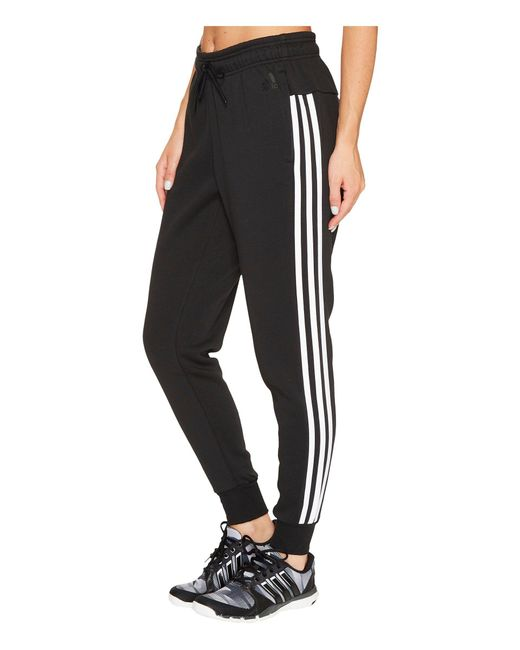 Adidas - Black Essentials Cotton Fleece 3s Jogger - Lyst