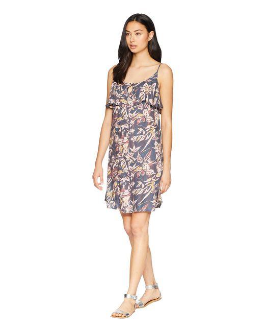 c7316ca26609 Lyst - Roxy Still Waking Up Printed Dress in Purple - Save 23%