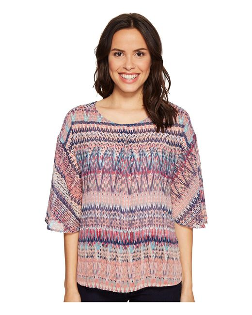 B Collection By Bobeau - Multicolor Bell Sleeve Blouse - Lyst