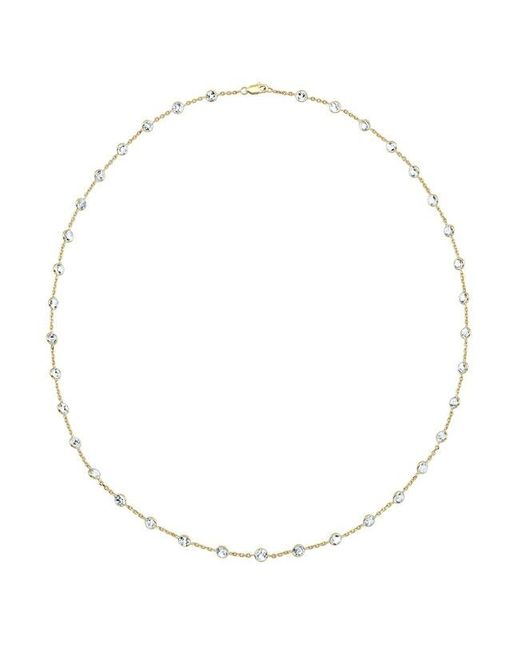 "Anne Sisteron | Orange 14kt Yellow Gold Precious Topaz 36"" Necklace 