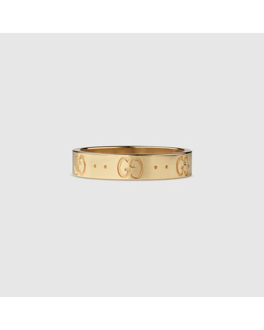 Gucci   Metallic Icon Thin Band for Men   Lyst