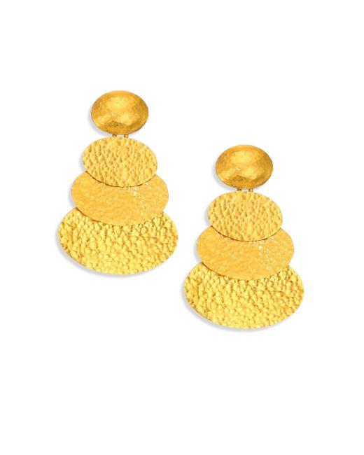 Gurhan | Metallic Mango 24k Yellow Gold Layered Drop Earrings | Lyst