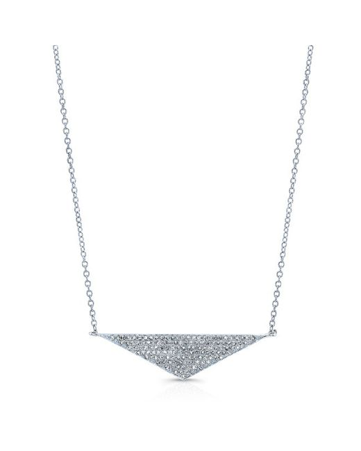 Anne Sisteron | Metallic 14kt White Gold Diamond Golden Triangle Necklace | Lyst
