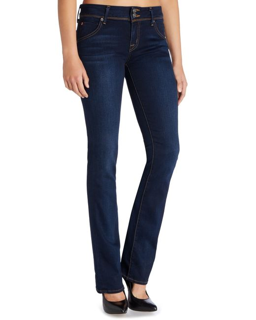 Hudson Jeans Beth Mid Rise Baby Bootcut Jean In Oracle In