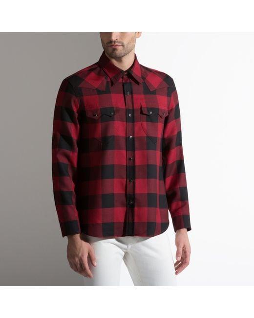 Bally Wool Silk Blend Shirt In Red For Men Lyst