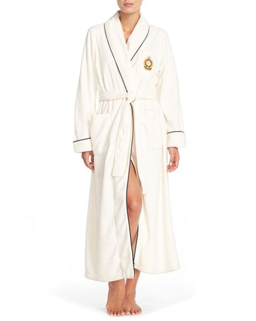 Lauren by Ralph Lauren | White Fleece Robe | Lyst