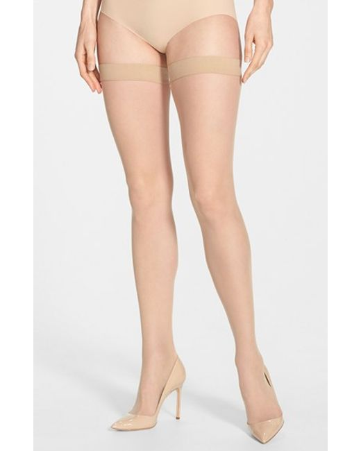 Wolford | Natural 'individual 10' Thigh High Stockings | Lyst
