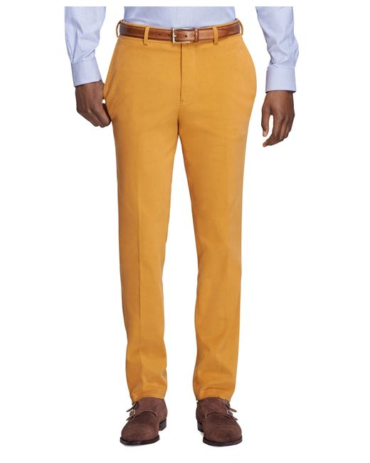 Brooks Brothers | Yellow Milano Fit Dress Chinos for Men | Lyst