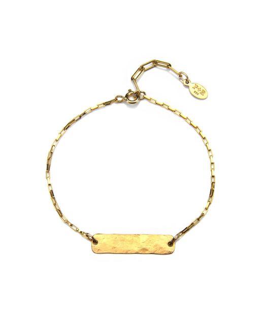 Phyllis + Rosie | Metallic Hammered Bar Bracelet - Gold | Lyst