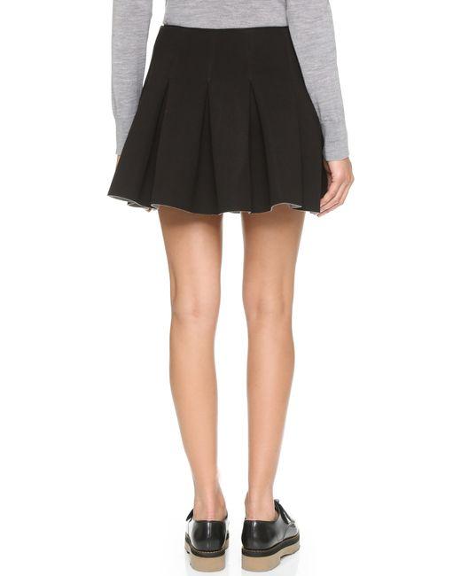 T By Alexander Wang | Black Scuba Neoprene Box Pleat Skirt | Lyst