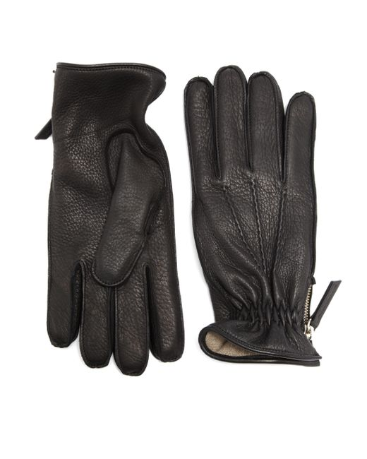 Want Les Essentiels De La Vie | Black Chopin Leather Zip Gloves for Men | Lyst