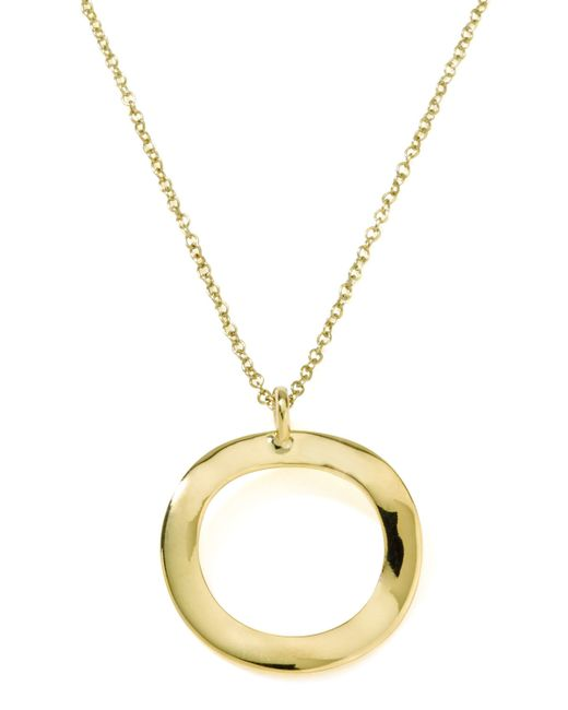 Ippolita | Metallic Mini Wavy Circle Pendant Necklace | Lyst