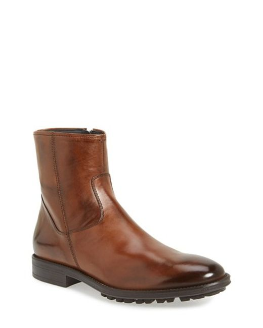 To Boot | Brown 'harrison' Zip Boot for Men | Lyst