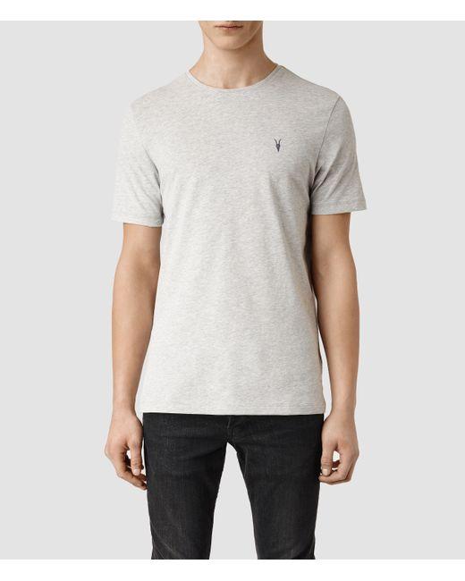 AllSaints | Gray Brace Tonic Crew T-shirt for Men | Lyst