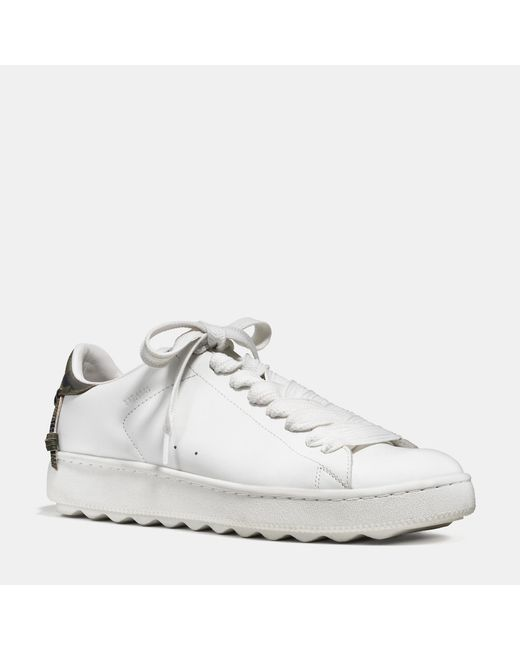 COACH | White Leather C101 Low Top Sneaker for Men | Lyst