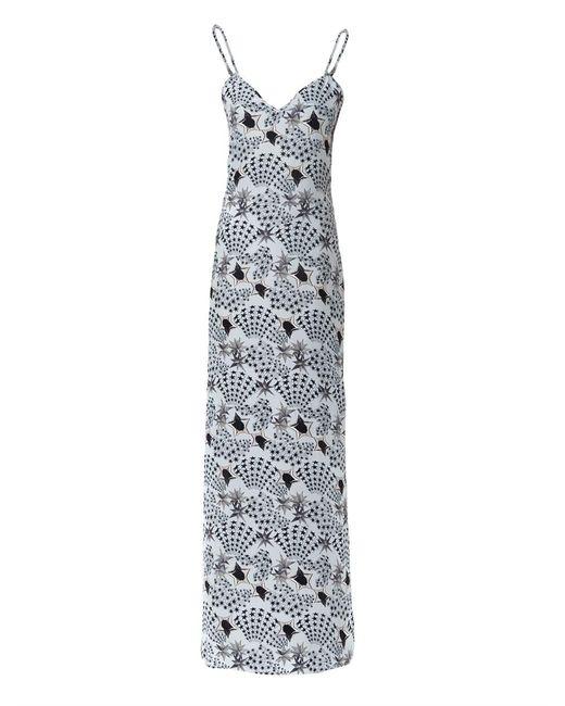 Matthew Williamson | Blue Mono-star Washed-silk Maxi Dress | Lyst