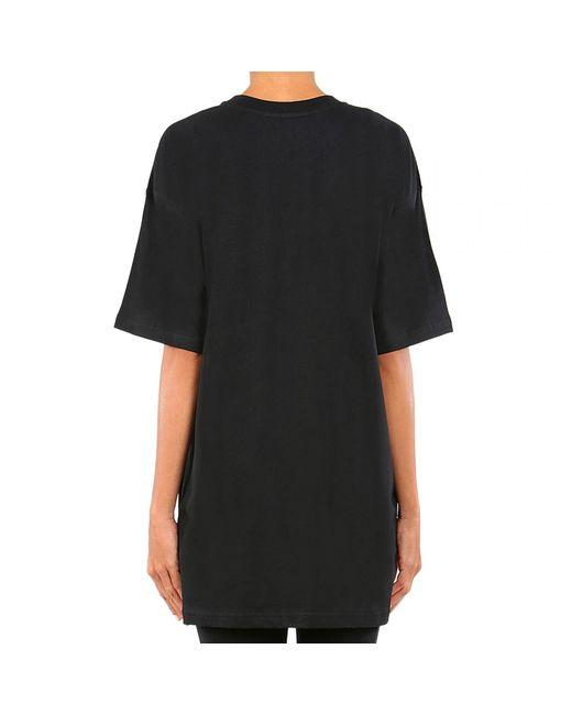 Moschino   Black Interlocking C-clamp Print T-shirt   Lyst