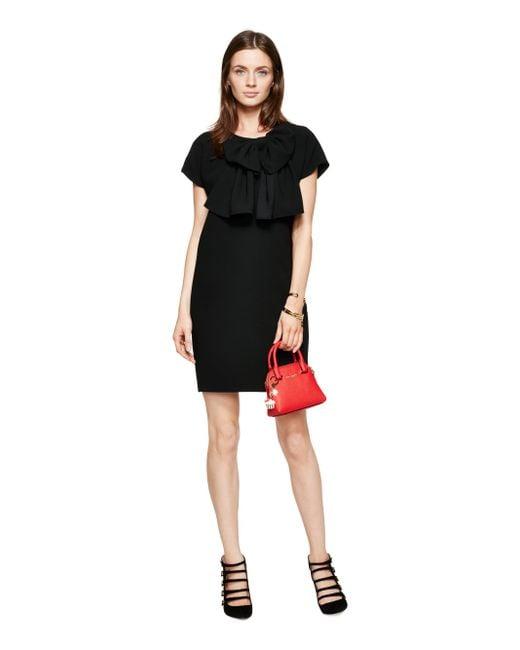 Kate Spade | Black Bow Shift Dress | Lyst