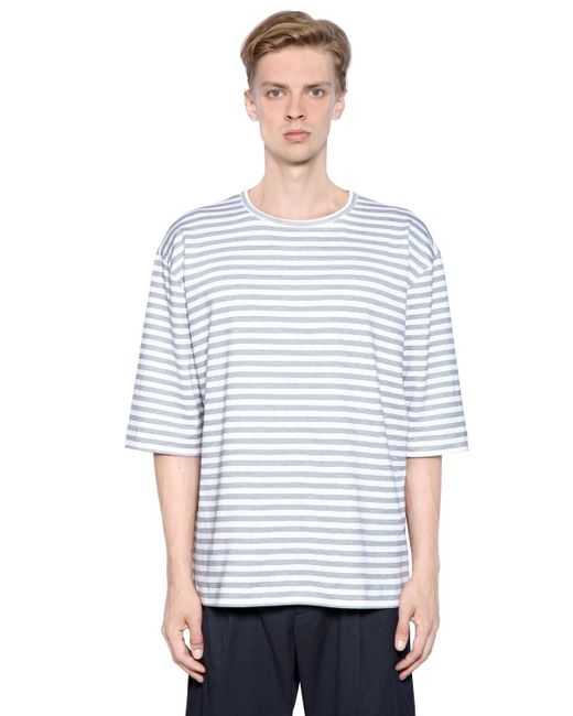 Antonio Marras Striped Heavy Cotton Jersey T Shirt In