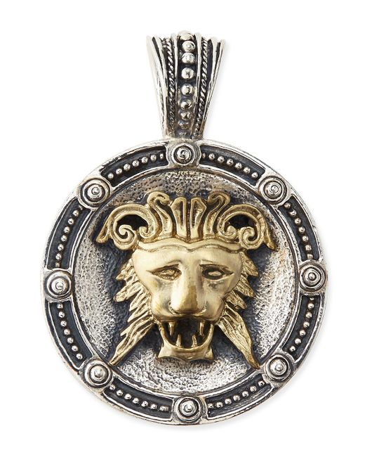 Konstantino | Metallic Men's Myrmidones Round Lion-face Pendant for Men | Lyst