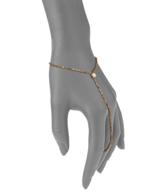 Jennifer Zeuner | Metallic Victoria Opal Hand Chain Bracelet | Lyst