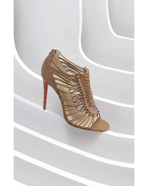 christian louboutin imitation shoes - christian louboutin patent leather cage wedges, christian ...