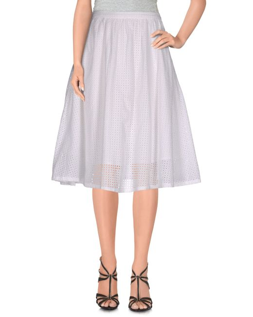 YMC   Blue Knee Length Skirt   Lyst