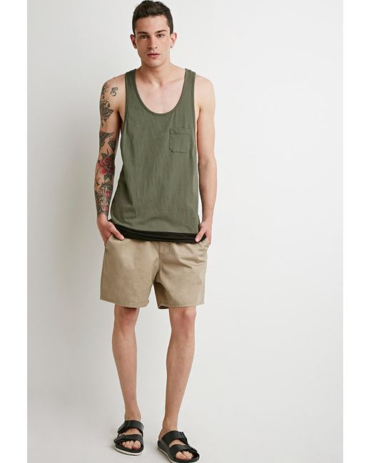 Forever 21 | Green Colorblocked Racerback Tank for Men | Lyst