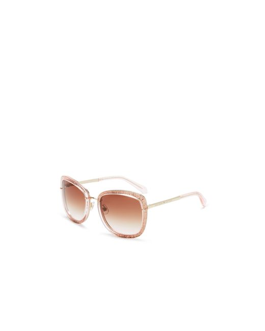 Kate Spade | Pink Scottie Oversized Square Sunglasses, 56mm | Lyst