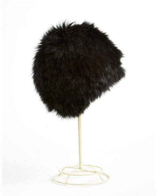 Surell | Black Fox Fur Cap | Lyst