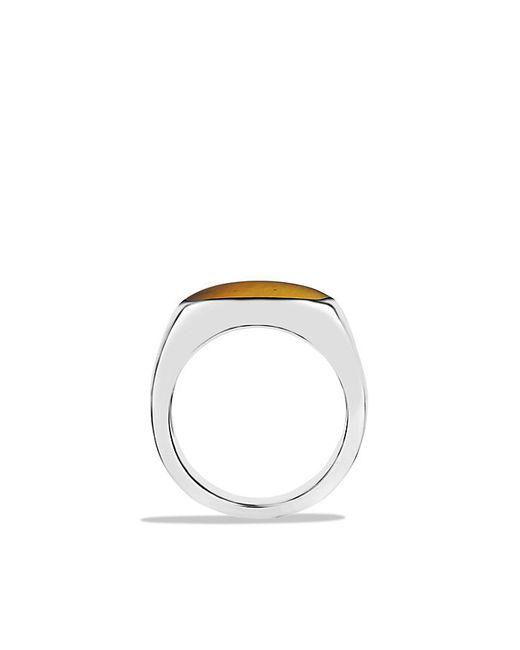 David Yurman   Black Exotic Stone Signet Ring With Tiger's Eye for Men   Lyst