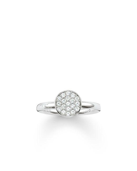 Thomas Sabo | Metallic Sparkling Circles Pave Set Silver Ring | Lyst