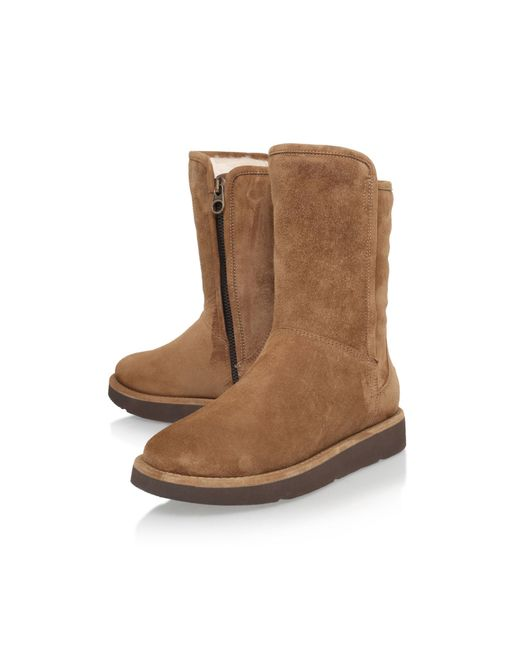 ugg ugg abree ii short boot in brown save 25 lyst. Black Bedroom Furniture Sets. Home Design Ideas