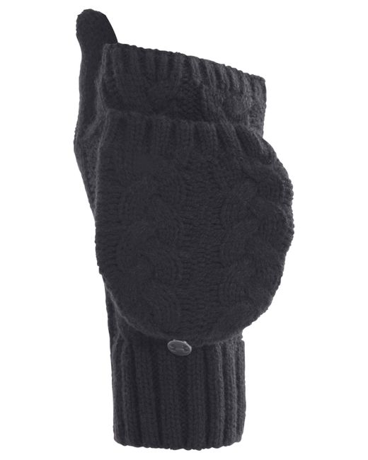 Under Armour | Black Around Town Flip Cable-knit Mittens | Lyst