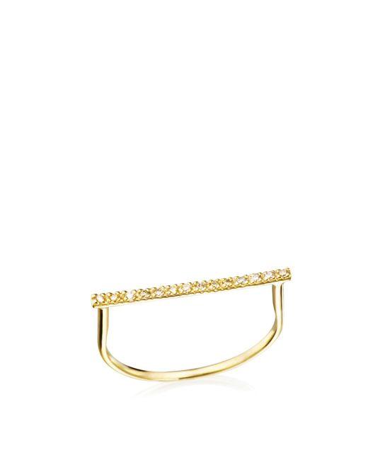 Hirotaka | Metallic Diamond Bar U-ring | Lyst